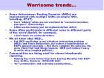 worrisome trends