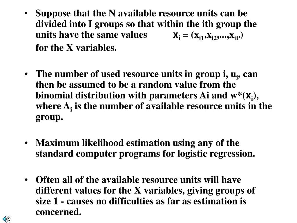 Suppose that the N available resource units can be divided into I groups so that within the ith group the units have the same values