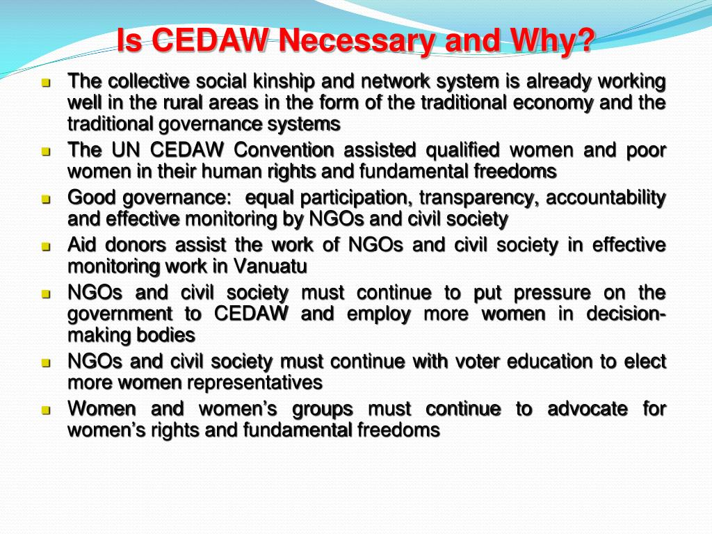 Is CEDAW Necessary and Why?