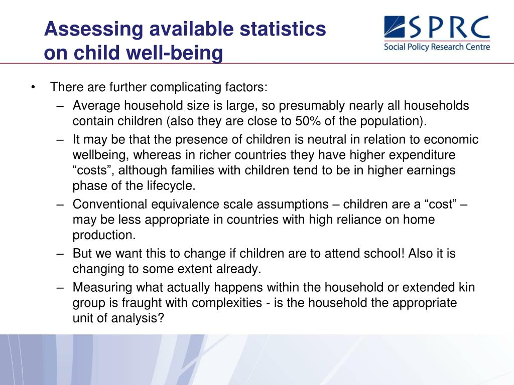 Assessing available statistics