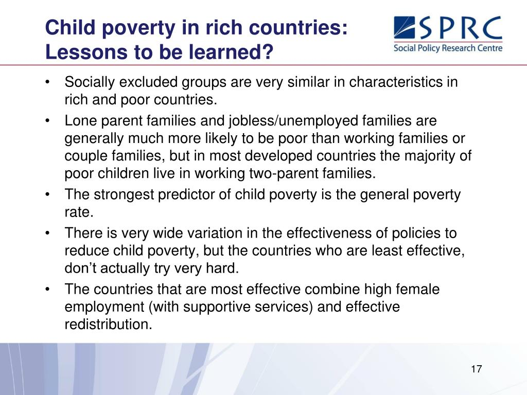 Child poverty in rich countries: