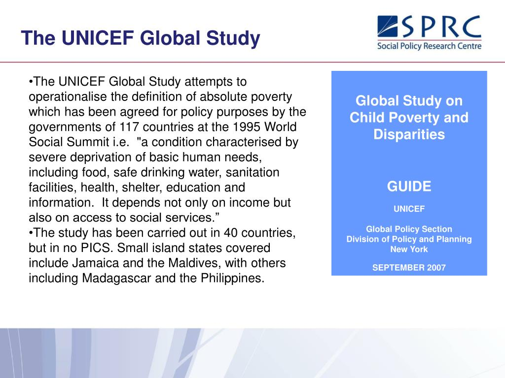 The UNICEF Global Study