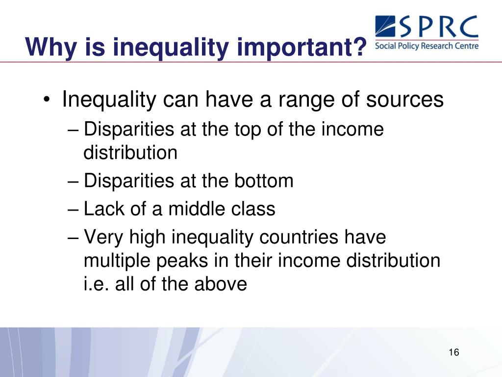 Why is inequality important?