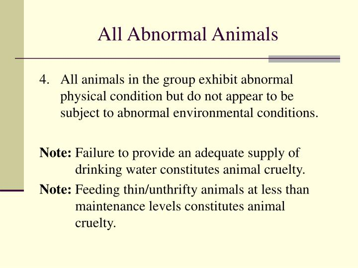 All Abnormal Animals