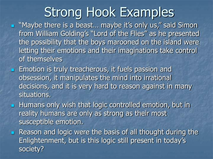 Strong Hook Examples