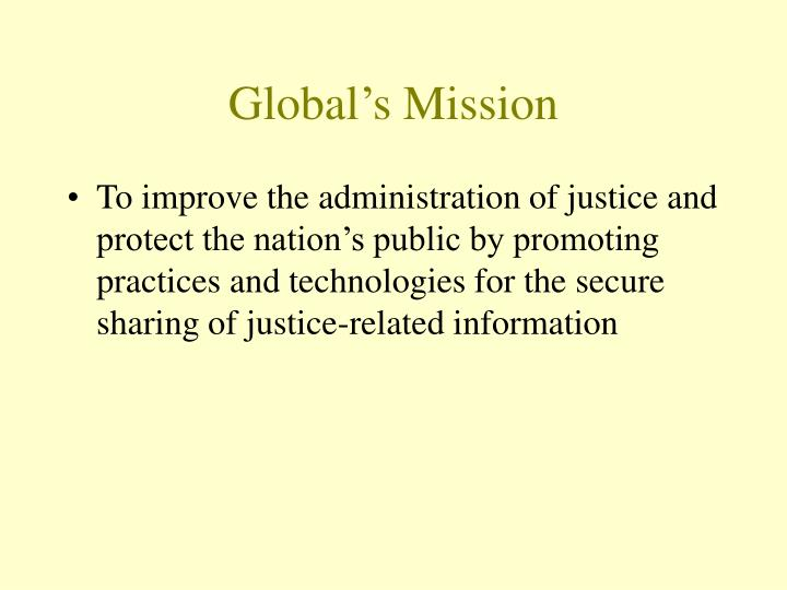 Global's Mission
