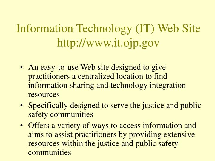 Information Technology (IT) Web Site
