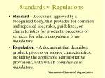 standards v regulations