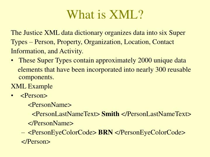 What is XML?
