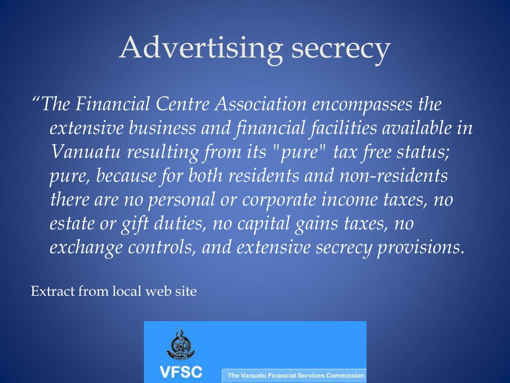 Advertising secrecy