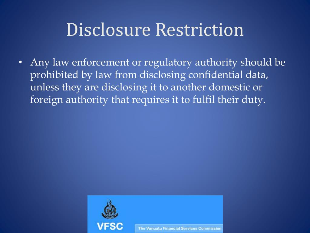 Disclosure Restriction