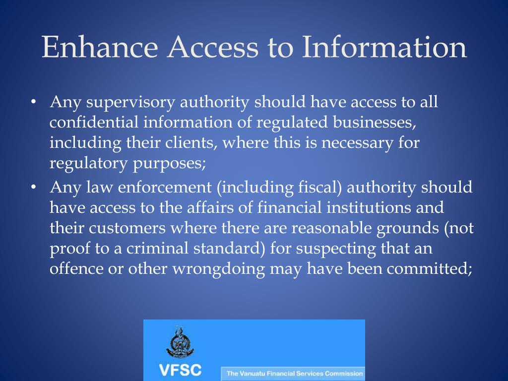 Enhance Access to Information