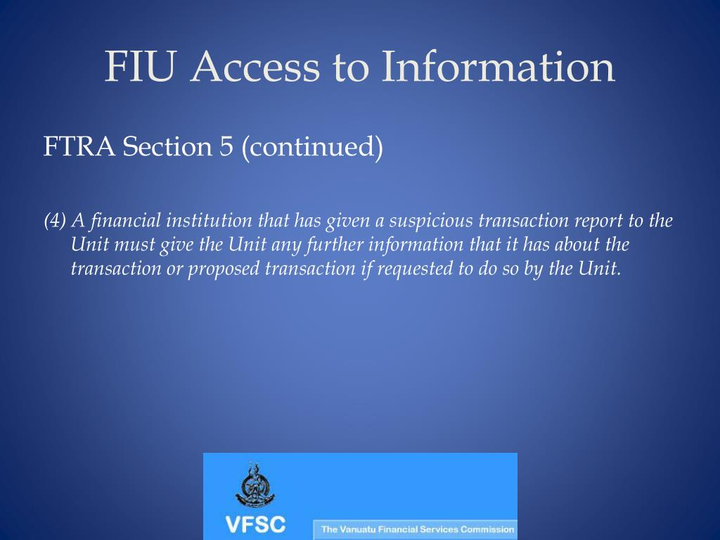 FIU Access to Information