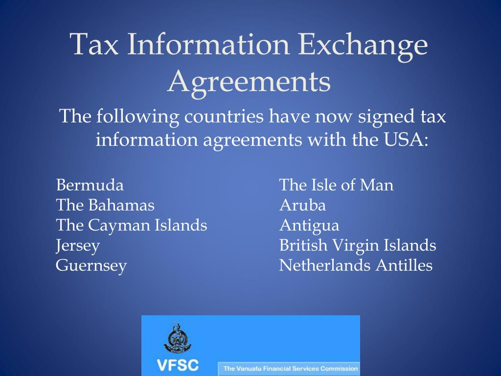 Tax Information Exchange Agreements