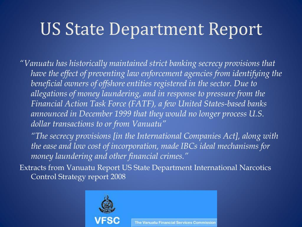 US State Department Report
