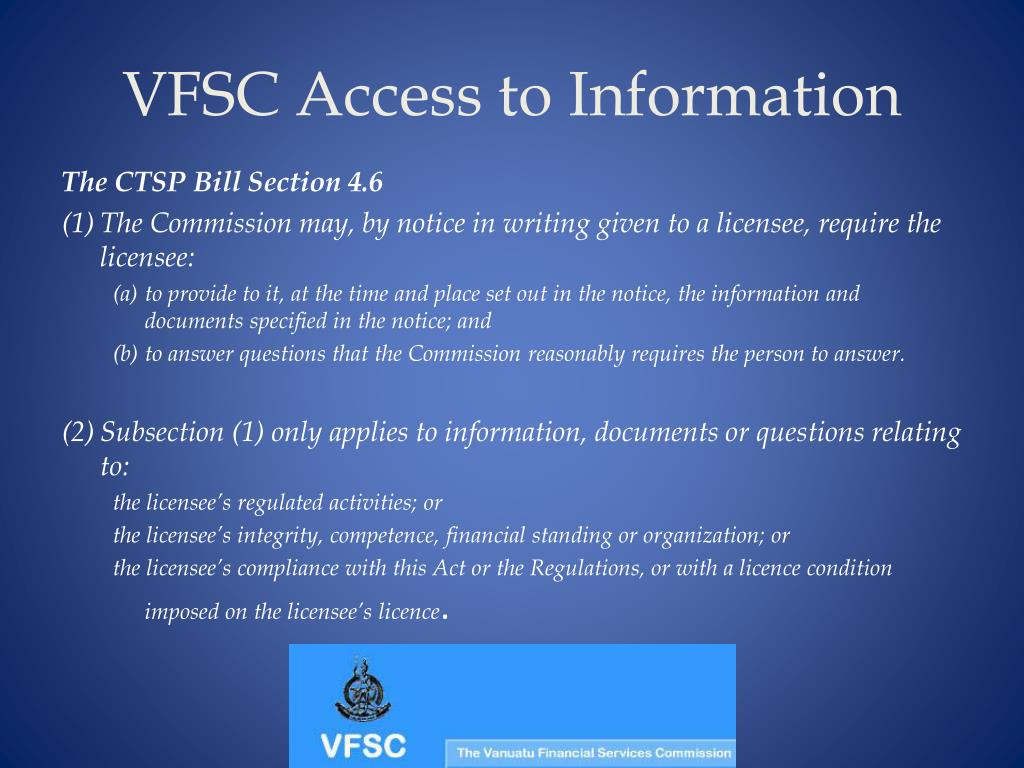 VFSC Access to Information