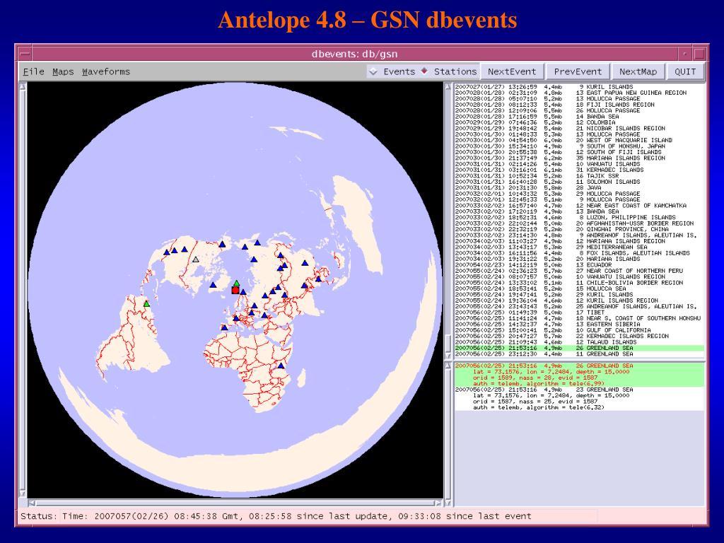 Antelope 4.8 – GSN dbevents