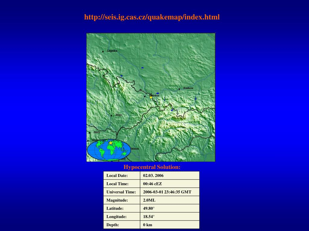 http://seis.ig.cas.cz/quakemap/index.html