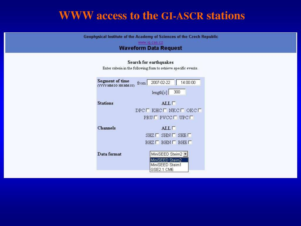 WWW access to the