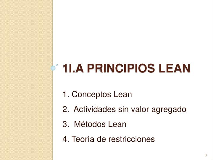 1. Conceptos Lean