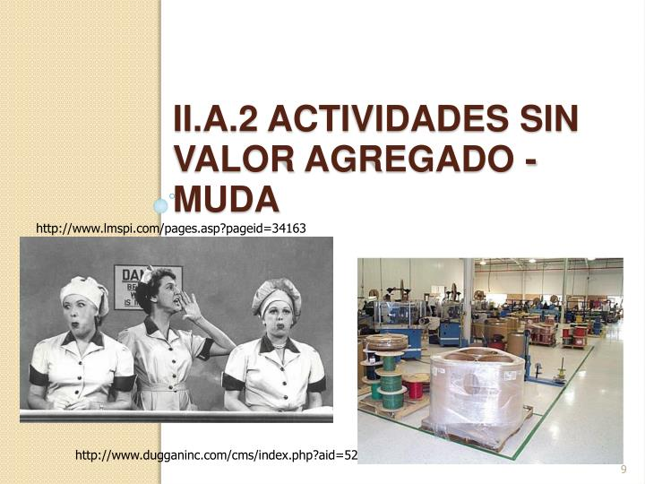 ii.a.2 actividades sin valor agregado - muda