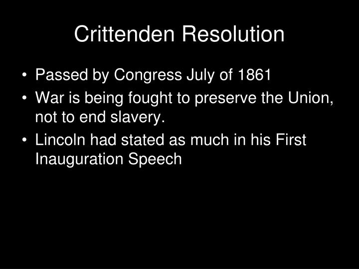 Crittenden Resolution