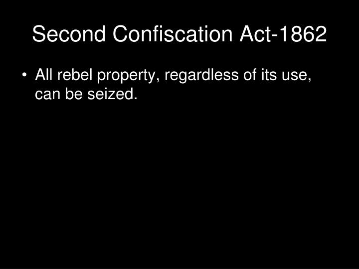 Second Confiscation Act-1862