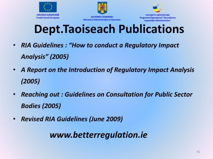 Dept.Taoiseach Publications