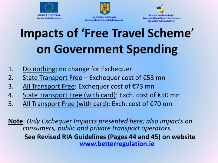 Impacts of 'Free Travel