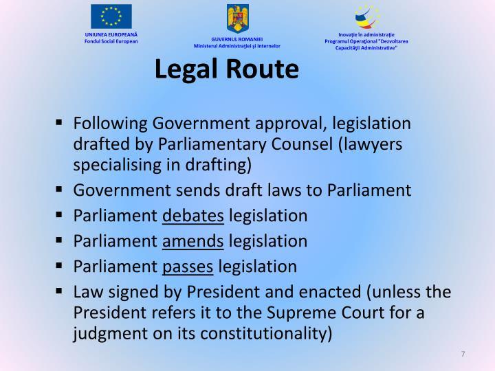 Legal Route