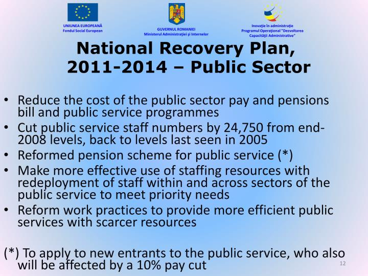 National Recovery Plan,