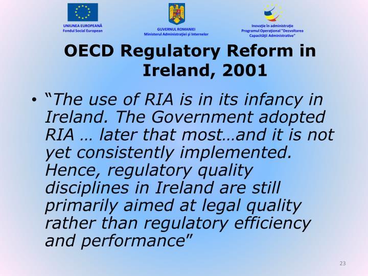 OECD Regulatory Reform in Ireland, 2001