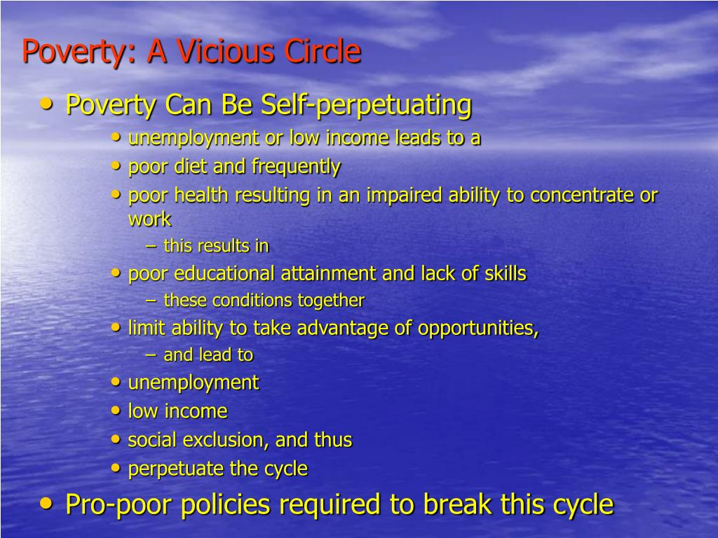 Poverty: A Vicious Circle