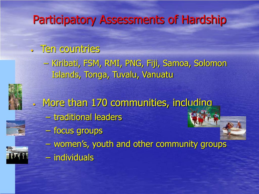Participatory Assessments of Hardship
