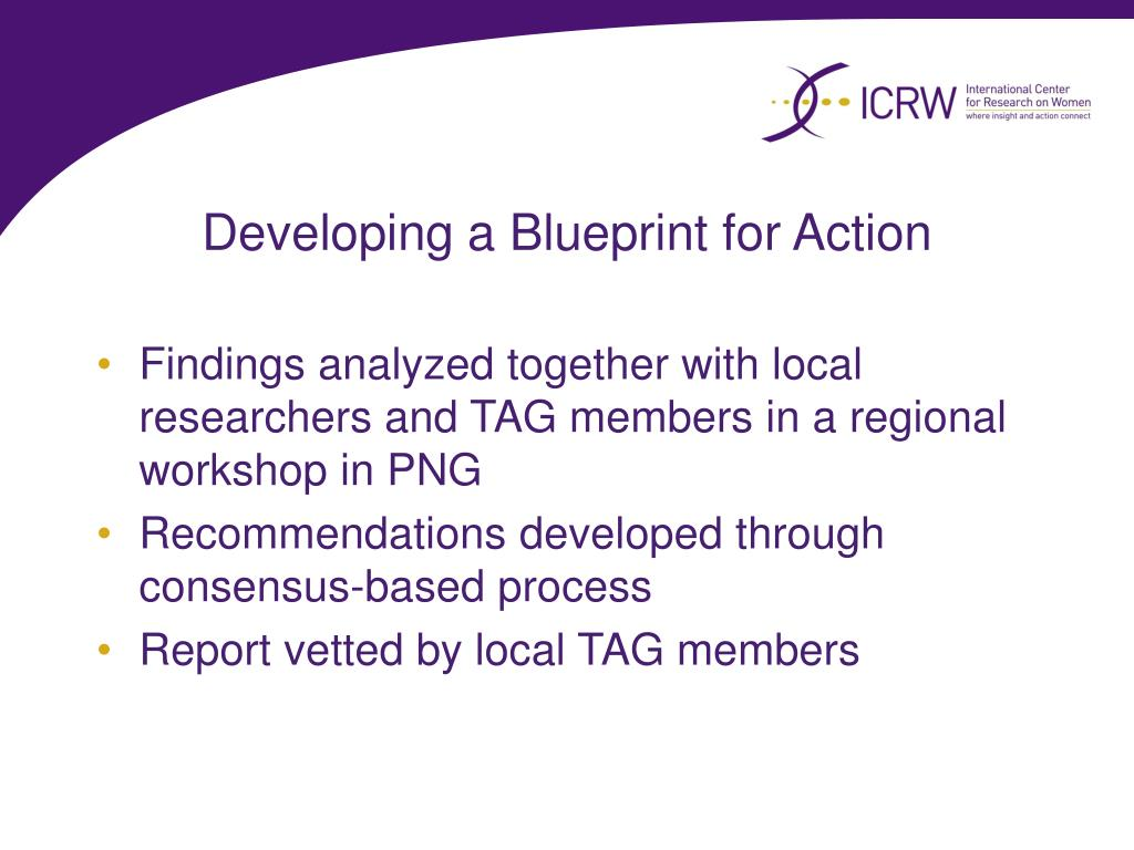 Developing a Blueprint for Action