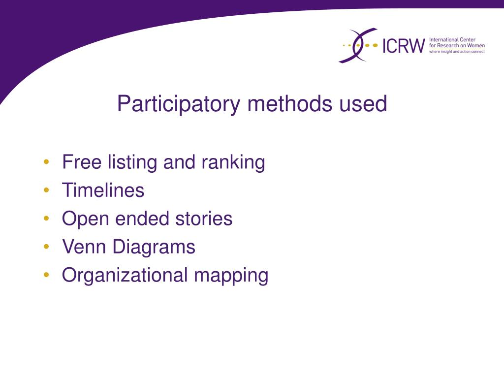 Participatory methods used