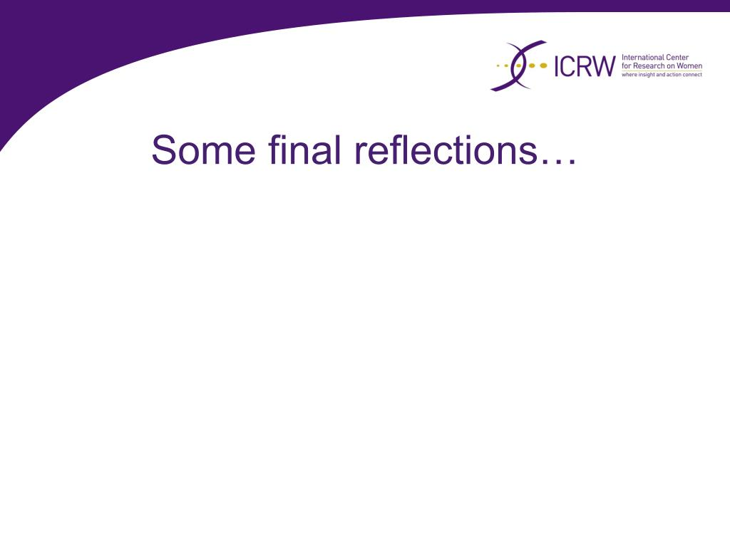 Some final reflections…
