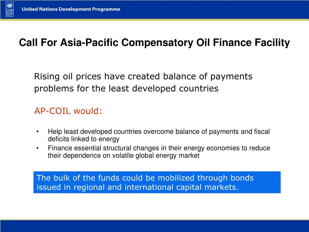 Help least developed countries overcome balance of payments and fiscal deficits linked to energy