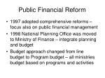 public financial reform