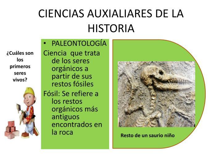CIENCIAS AUXIALIARES DE LA HISTORIA