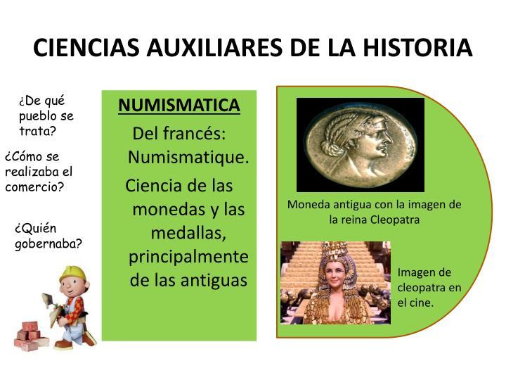 CIENCIAS AUXILIARES DE LA HISTORIA