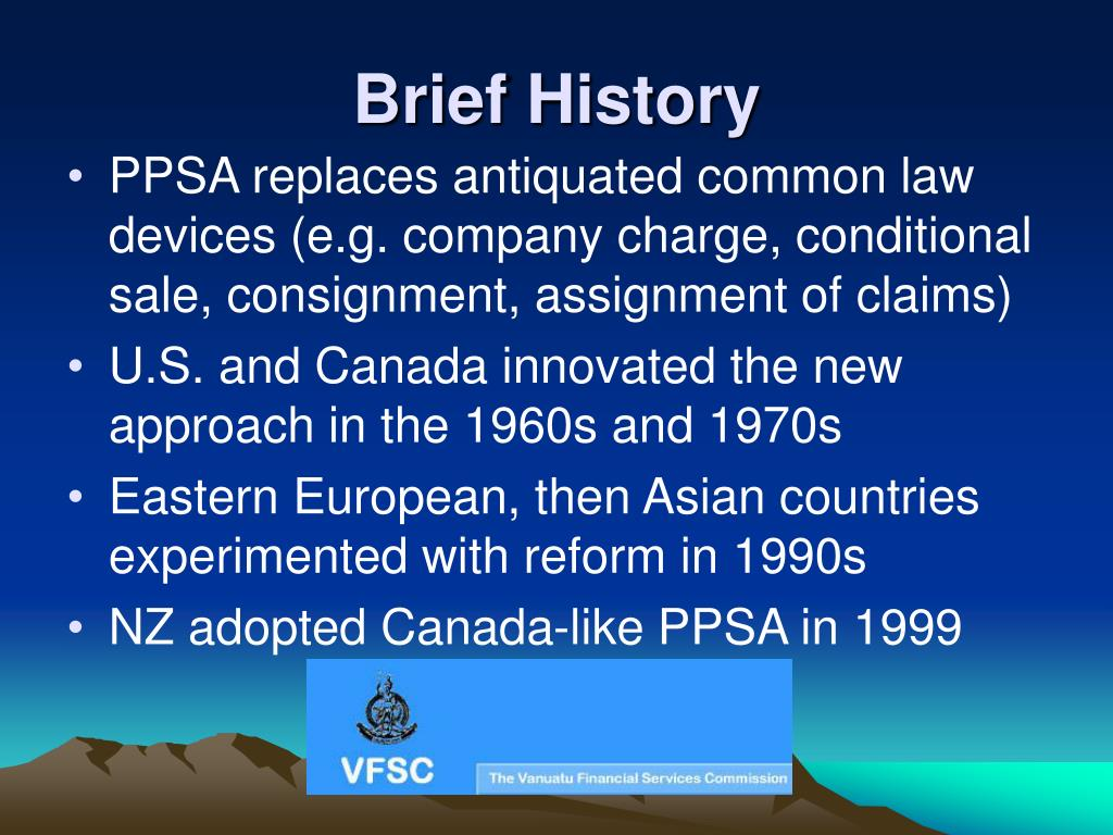 Brief History