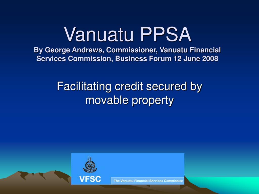 Vanuatu PPSA