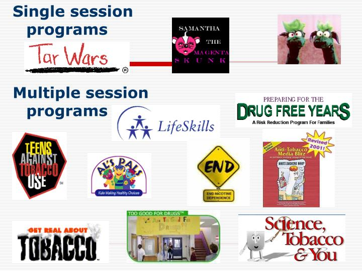 Single session programs