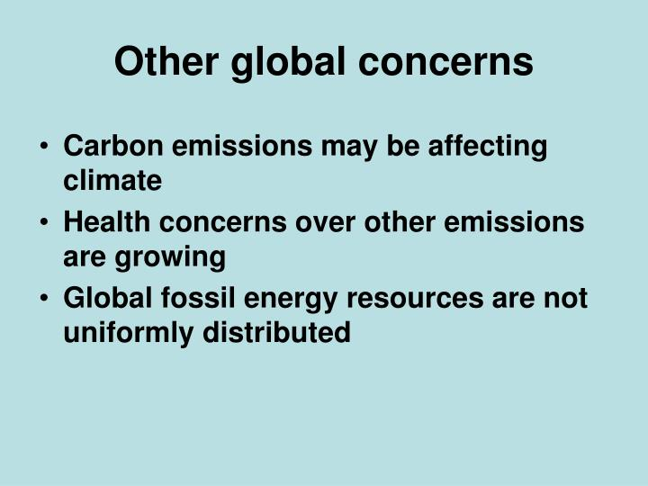Other global concerns