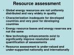 resource assessment