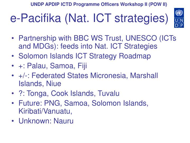 E pacifika nat ict strategies l.jpg