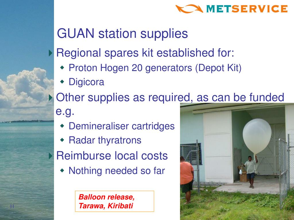 GUAN station supplies