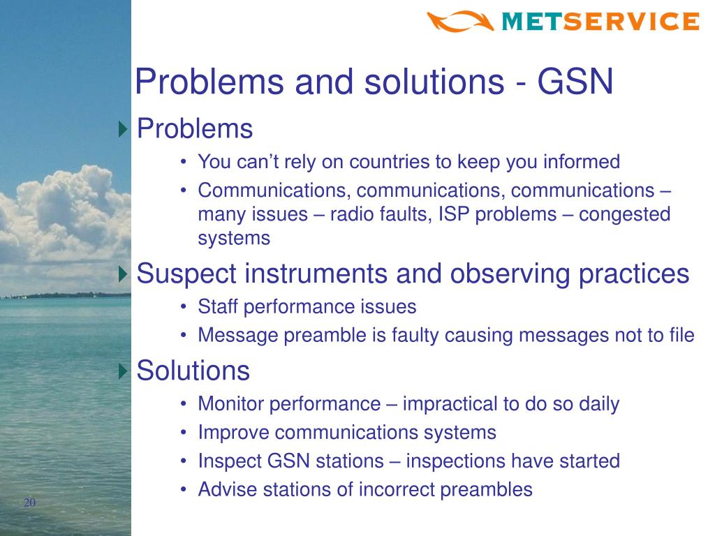 Problems and solutions - GSN