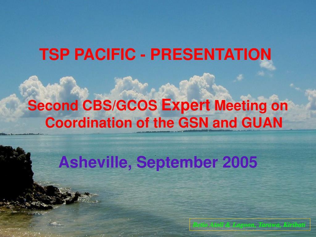 TSP PACIFIC - PRESENTATION